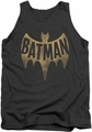 Batman Classic TV tank top Vintage Logo adult charcoal