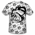 Batman front sublimation t-shirt Against The Wall short sleeve White