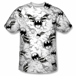 Batman front sublimation t-shirt Bat Flight short sleeve White