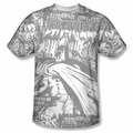Batman front sublimation t-shirt Bat Killers short sleeve White