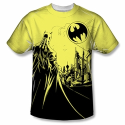 Batman front sublimation t-shirt Bat Signal short sleeve White