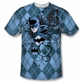 Batman front sublimation t-shirt Batgyle short sleeve White
