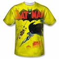 Batman front sublimation t-shirt Batman Number One short sleeve White