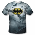 Batman front sublimation t-shirt Bats Logo short sleeve White