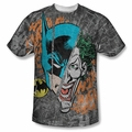 Batman front sublimation t-shirt Broken Visage short sleeve White
