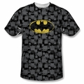 Batman front sublimation t-shirt Caped Crusader Repeat short sleeve White