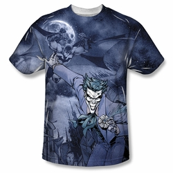 Batman front sublimation t-shirt Catch The Joker short sleeve White