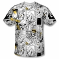 Batman front sublimation t-shirt Comic All Over short sleeve White
