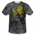 Batman front sublimation t-shirt Dark City short sleeve White