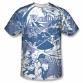 Batman front sublimation t-shirt Dark Protector short sleeve White
