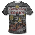 Batman front sublimation t-shirt Detective #31 Cover short sleeve White