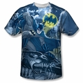 Batman front sublimation t-shirt Gotham Gargoyle short sleeve White
