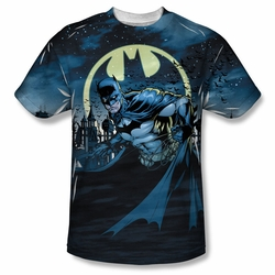 Batman front sublimation t-shirt Heed The Call short sleeve White