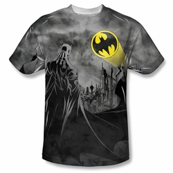 Batman front sublimation t-shirt Stormy Call short sleeve White