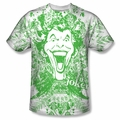 Batman front sublimation t-shirt Joker In The Wild short sleeve White