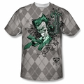 Batman front sublimation t-shirt Jokergyle short sleeve White