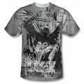 Batman front sublimation t-shirt Knight Life short sleeve White