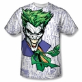 Batman front sublimation t-shirt Laugh Clown Laugh short sleeve White