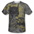 Batman front sublimation t-shirt Nevermore short sleeve White