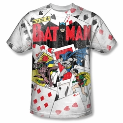 Batman front sublimation t-shirt Number 11 All Over short sleeve White