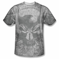 Batman front sublimation t-shirt Rooted Bat Skull short sleeve White