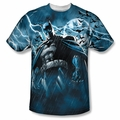 Batman front sublimation t-shirt Stormy Knight short sleeve White