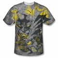 Batman front sublimation t-shirt Symbiotic short sleeve White