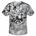 Batman front sublimation t-shirt Tale Of The Dark Knight short sleeve White