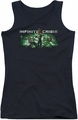 Batman Infinite Crisis juniors tank top Ic Green black