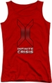 Batman Infinite Crisis juniors tank top Title red