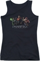 Batman Injustice Gods Among Us juniors tank top Injustice League black