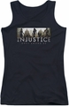 Batman Injustice Gods Among Us juniors tank top Logo black