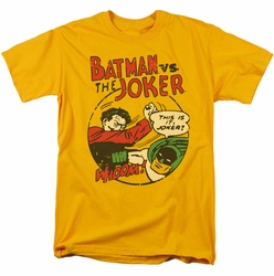 Batman Joker t-shirt Grudge Match mens gold