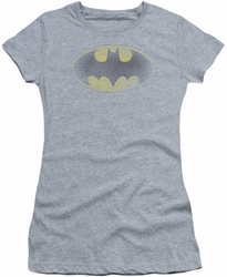Batman juniors sheer t-shirt Faded Logo heather