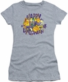 Joker juniors sheer t-shirt Ha Ha Halloween athletic heather