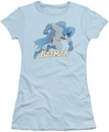 Batman juniors sheer t-shirt Running Retro light blue