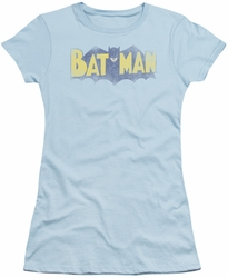 Batman juniors sheer t-shirt Vintage Logo light blue