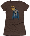 Batman juniors t-shirt Arms Akimbo Bats dark chocolate