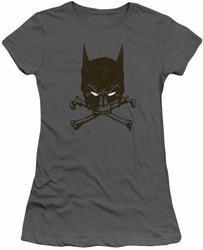 Batman juniors t-shirt Bat And Bones charcoal