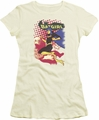 Batman juniors t-shirt Batgirl Crunch cream