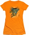 Batman juniors t-shirt Batman Vs Catman orange