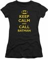 Batman juniors t-shirt Call Batman black