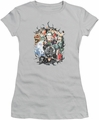 Batman juniors t-shirt Cape Of Villians silver