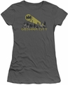 Batman juniors t-shirt Gotham Skyline charcoal