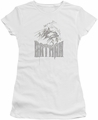 Batman juniors t-shirt Knight Sketch white