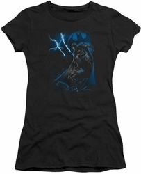 Batman juniors t-shirt Lightning Strikes black