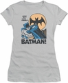 Batman juniors t-shirt Look Out silver