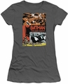 Batman juniors t-shirt Old Movie Poster charcoal