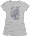Batman juniors t-shirt Pencil Bat Collage silver