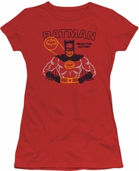 Batman juniors t-shirt Ready For Action red